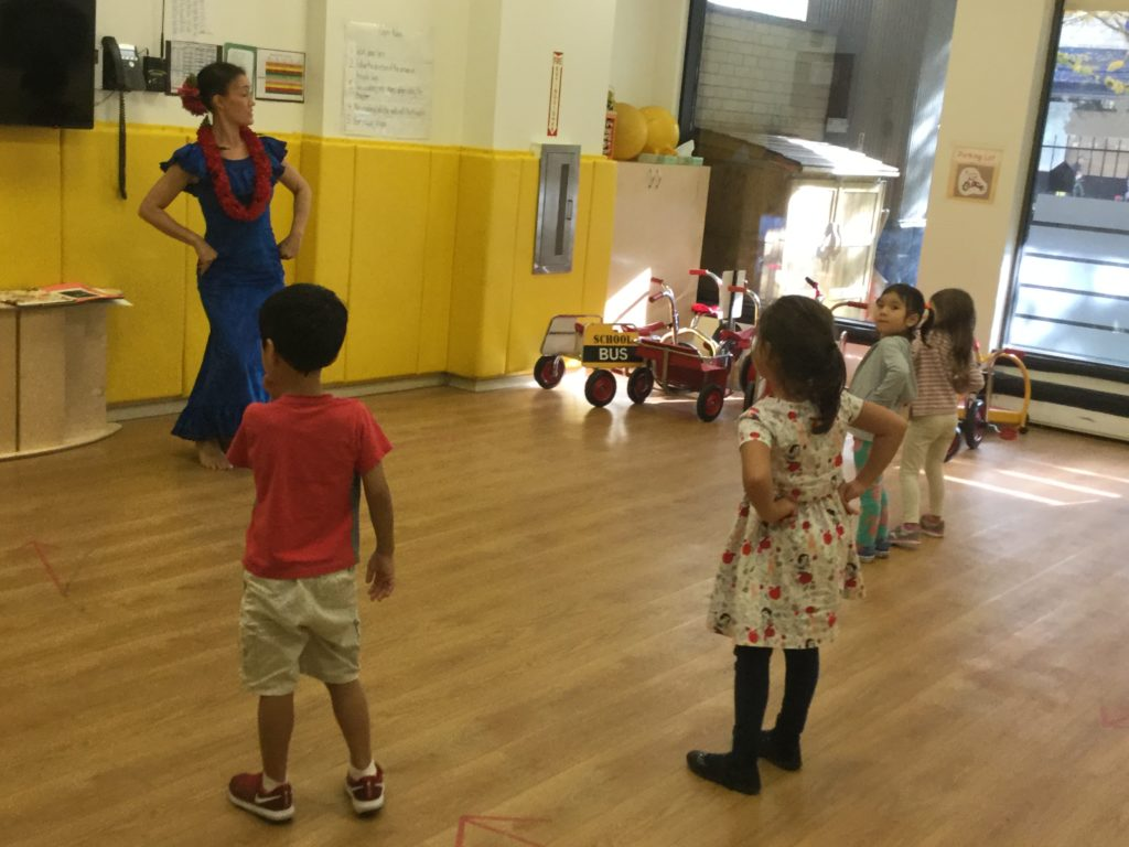 During World Dance, students incorporate movement while learning about world cultures.