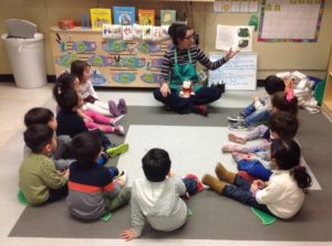 The Green 2 class at 45th Street is learning about Curious George.