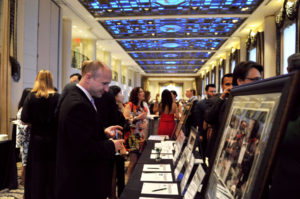 The Silent Auction at the Spring Benefit.