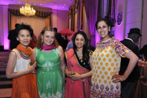Parents and teachers dressed for last year's Bollywood-themed Spring Benefit.