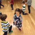 Partners dance the Tarantella.