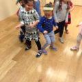 """Pata Pata"" celebratory dance from South Africa.  aka ""Do the Bump""."