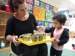 Our youngest students learned about Earth Day via planting activities.