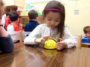 The Bee-Bots enter the Pre-K and Junior K classrooms via our iPad/Technology program, providing a new way to teach young children about the basics of coding.