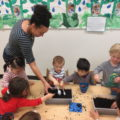 """Earth Day is celebrated at all three locations; via play-based learning, children explore small ways that they too can help """"save the Earth."""""""