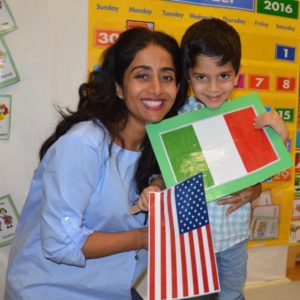 "October: Fall units and our annual United Nations Day celebrations took place at all three locations. After UN Day, ""culture shares"" begin; this is where families are invited into the classrooms to share a family tradition with the children."