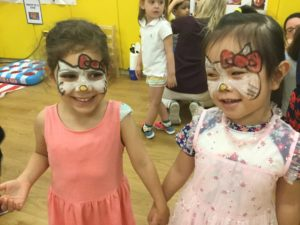 Face painting at the Camp Carnival!