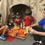 """Camping by the """"fire"""" at IPS Summer Camp!"""