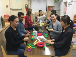 Parents at work in Pre-K 2!