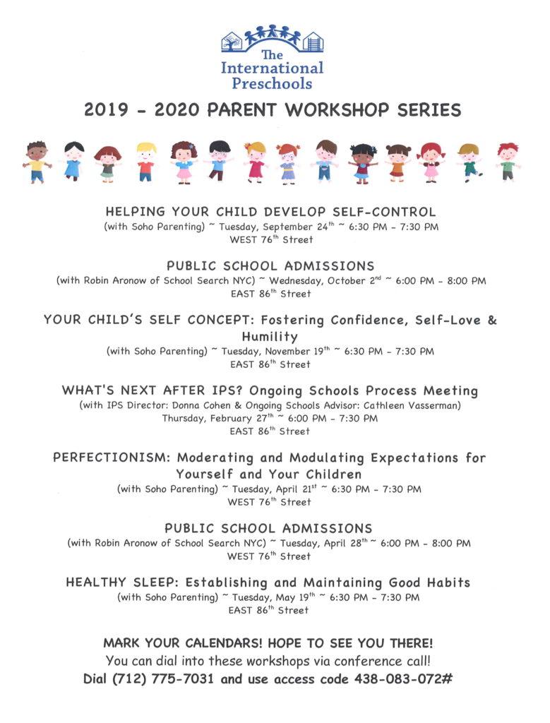 Parent Workshop Series - The International Preschools of NYC