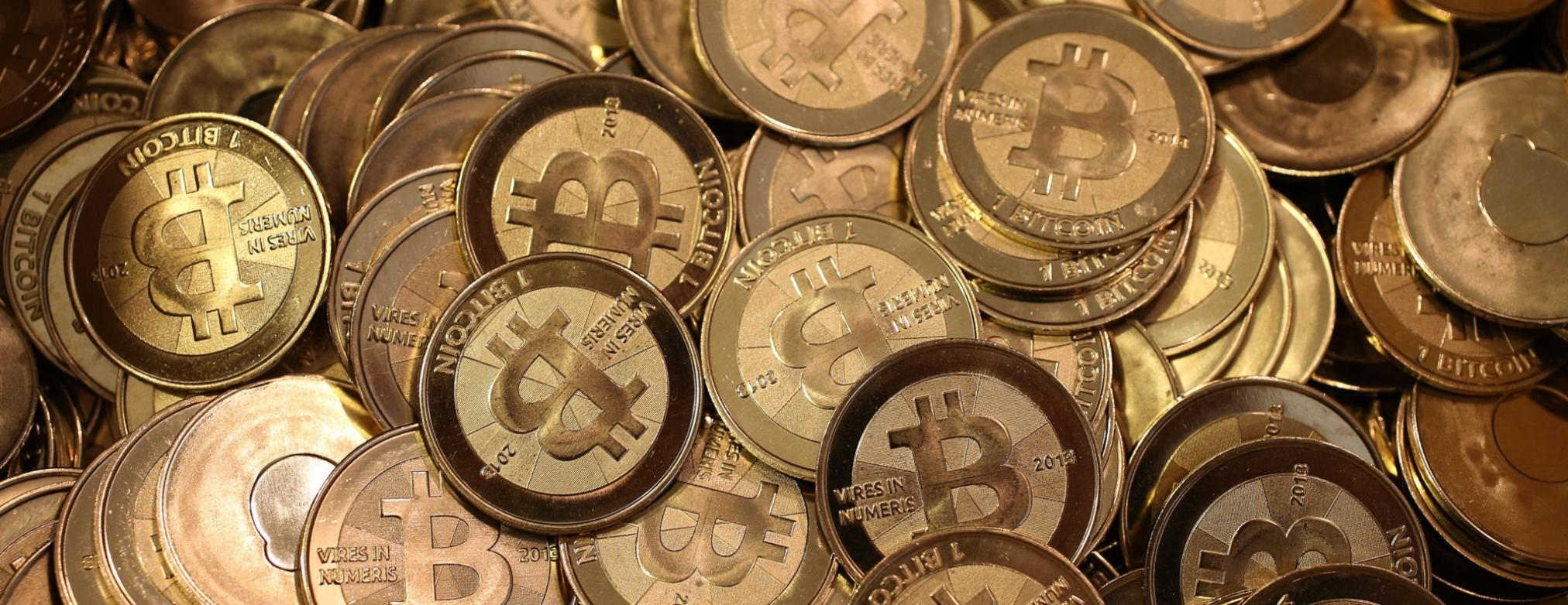 physical representation of bitcoins