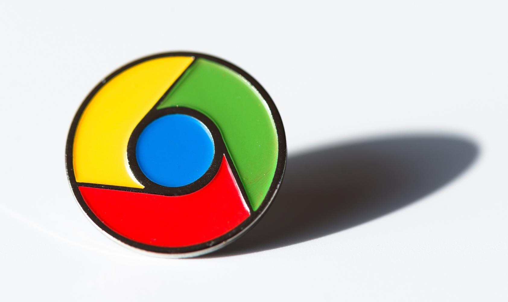 Google chrome logo badge