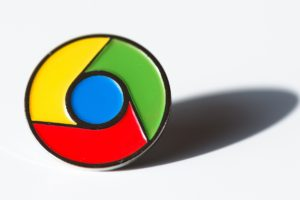 Google chrome logo badge
