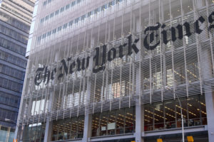 The New York Times building front