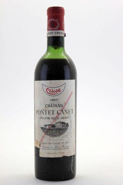 1967  Pontet Canet - 750 mL