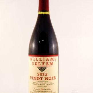 2012 Williams Selyem Coastlands Vineyard Pinot Noir - 750 mL