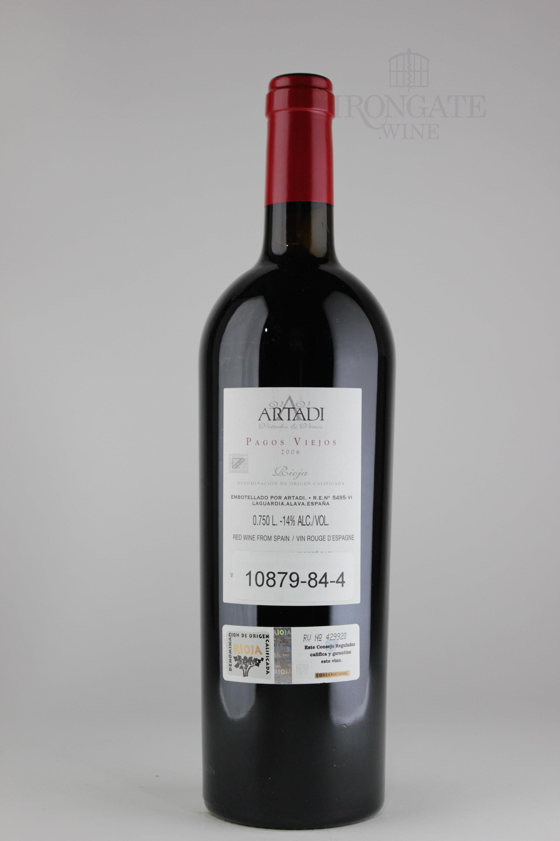 4 Viejos 2006 artadi pagos viejos - 750 ml - buy online - irongate.wine - 23380