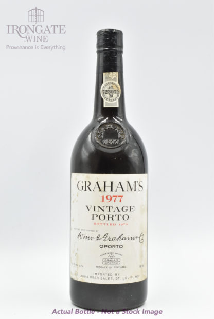 1977 Graham Vintage Port (Lightly Stained Label) - 750 mL
