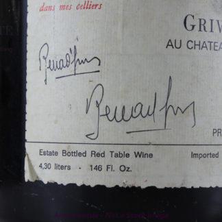 1976 Grivelet Bonnes Mares (Exposed Cork) - 4300 mL