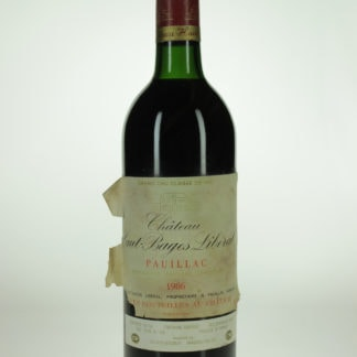 1986 Haut Bages Liberal Damaged Label  - 750 mL