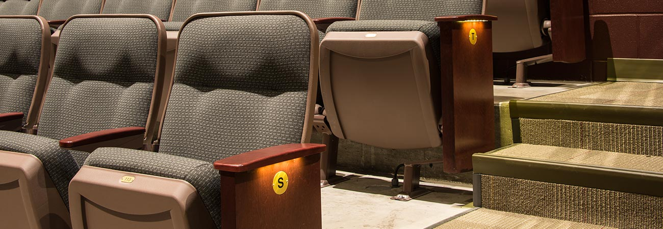 Aisle Light Options For Auditorium And Theatre Chairs