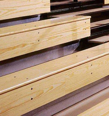 Wood Bleacher Seating