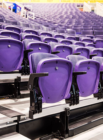 Who Makes Infinity >> Telescopic bleachers and platforms for gymnasiums, arenas ...