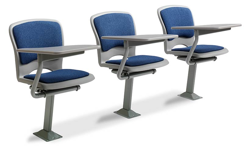 This lecture room chair is designed with a one-piece polymer shell upholstered pads and a large non-folding writing tablet. It is available for floor ...  sc 1 st  Irwin Seating & Model 7.70 Tablet Arm Chairs for lecture halls manufactured by Irwin ...