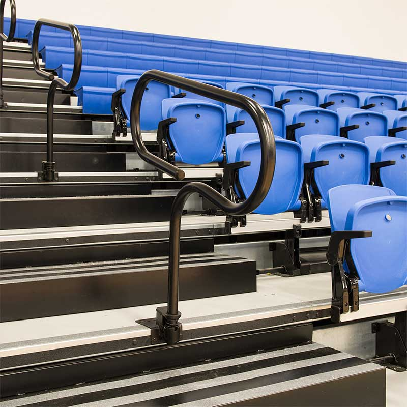 Aisle Rails For Telescoping Stands And Bleachers From