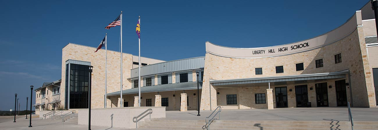 Liberty Hill High School With Model Marquee