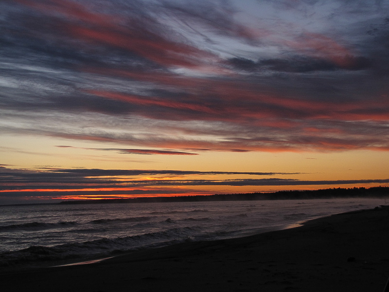 Wisconsin Point Sunrise by Ted Keyel