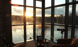 View from the Cornell Lab of Ornithology. Photo by Shailee Shah, courtesy of The Cornell Daily Sun.