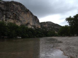 Fig. 2. Chalk Bluffs Park, near Uvalde, got us 82 species, many of which we saw nowhere else.