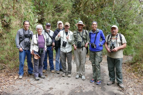 Noah was joined by a diversity of birders in March, including these members of the Panama Audubon Society during an afternoon at Colombia's El Dorado reserve.