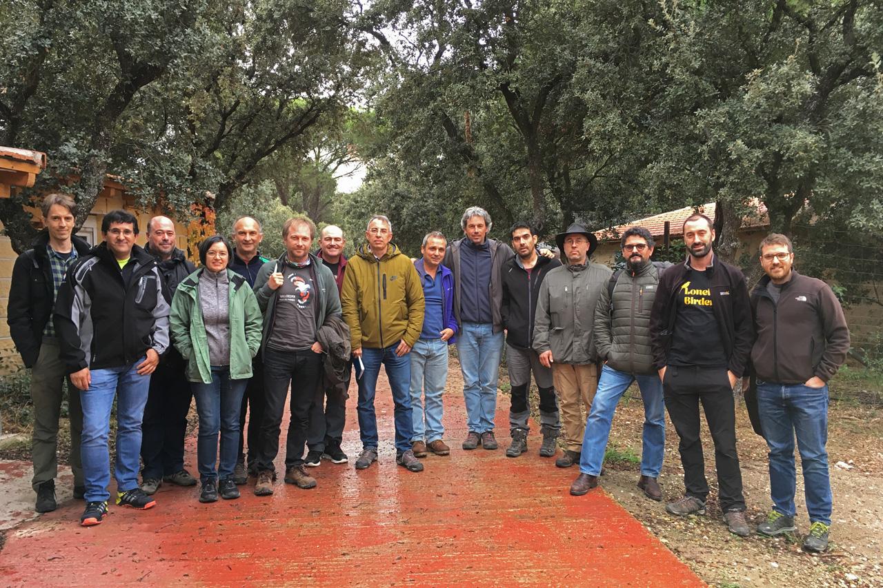 Revisores participantes en la última reunión de eBird España