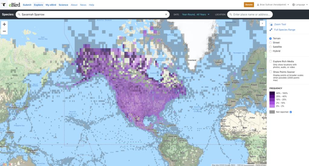 eBird Range Map