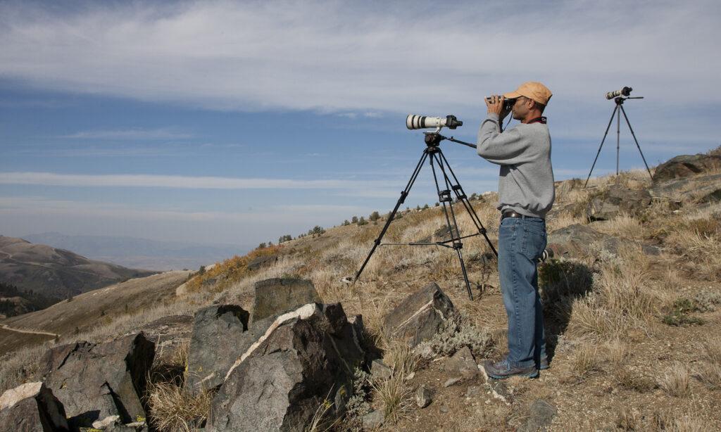 Jerry Liguori at Bountiful Peak, UT (2012). Photo credit: Brian Sullivan.