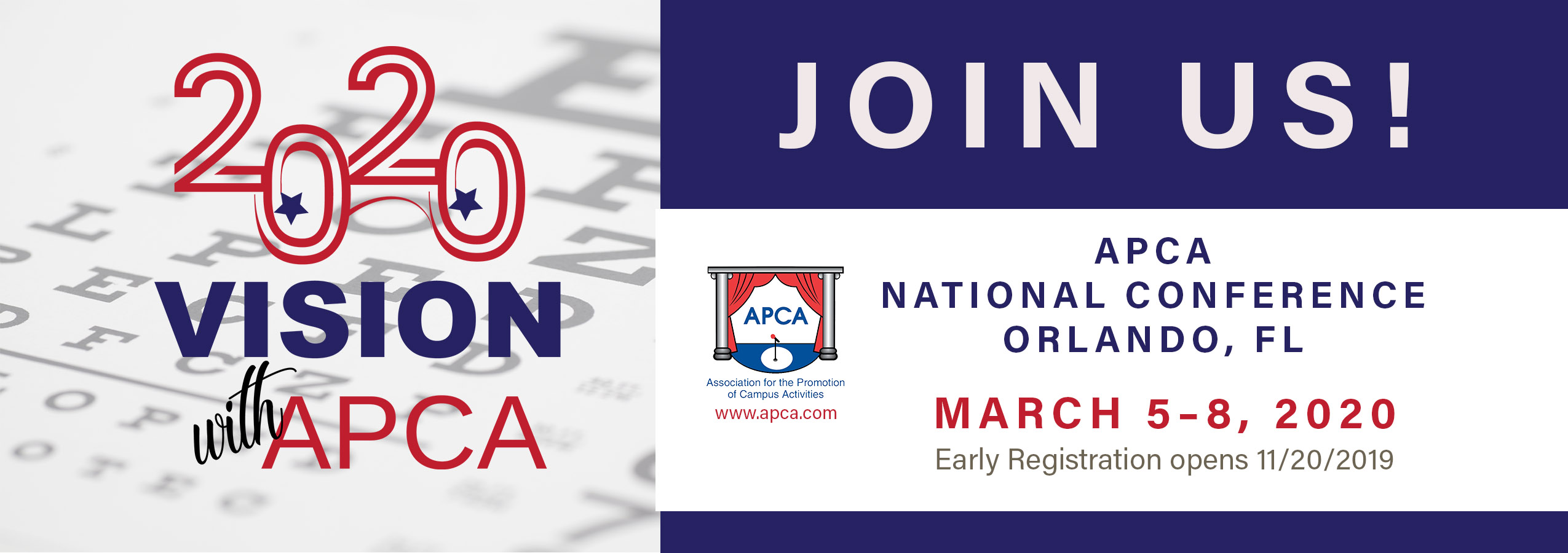 Banner for APCA 2020 National conference
