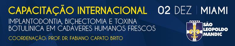Capacitação Internacional em Implantodontia, Bichectomia e Toxina Botulínica em Cadáveres Humanos Frescos - Cód 2633