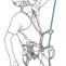 Auto assurage 4 installation pour l auto assurage sur une seule corde portant deux bloqueurs 1