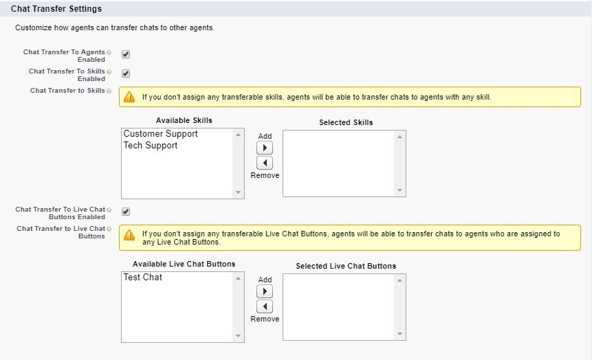 live-agent-chat-transfer-settings