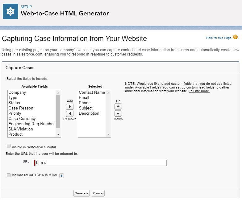 web-to-case-generator