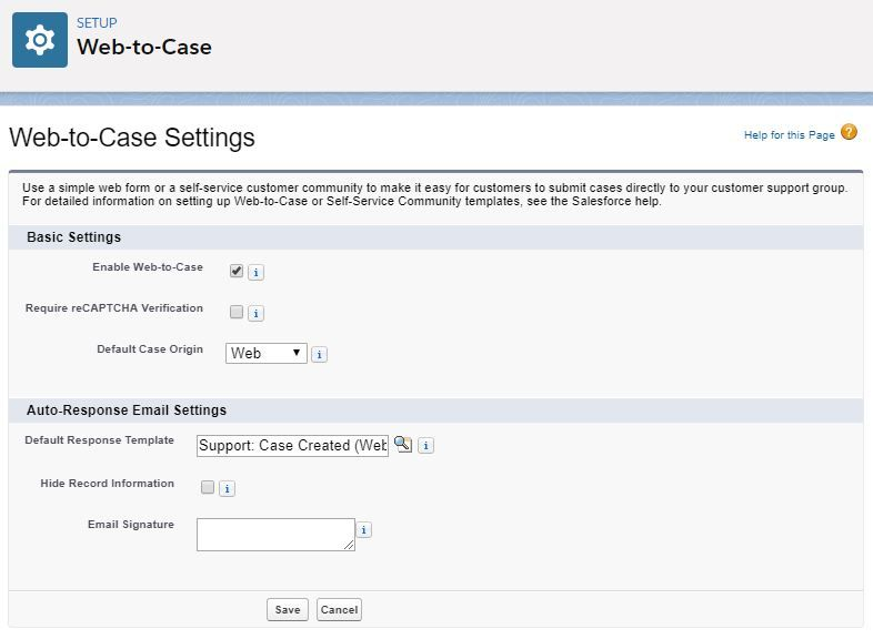 web-to-case-settings