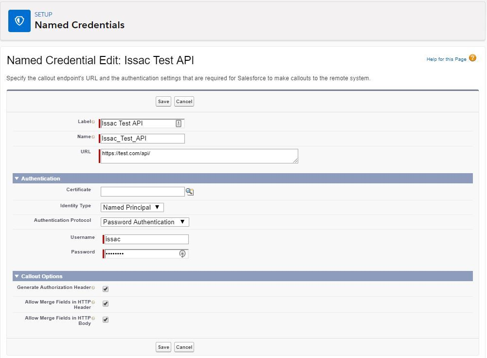 create-named-credential