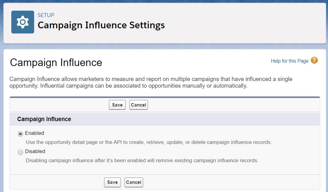campaign-influence-settings