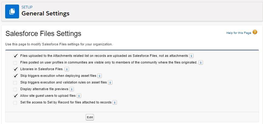 salesforce-files-settings