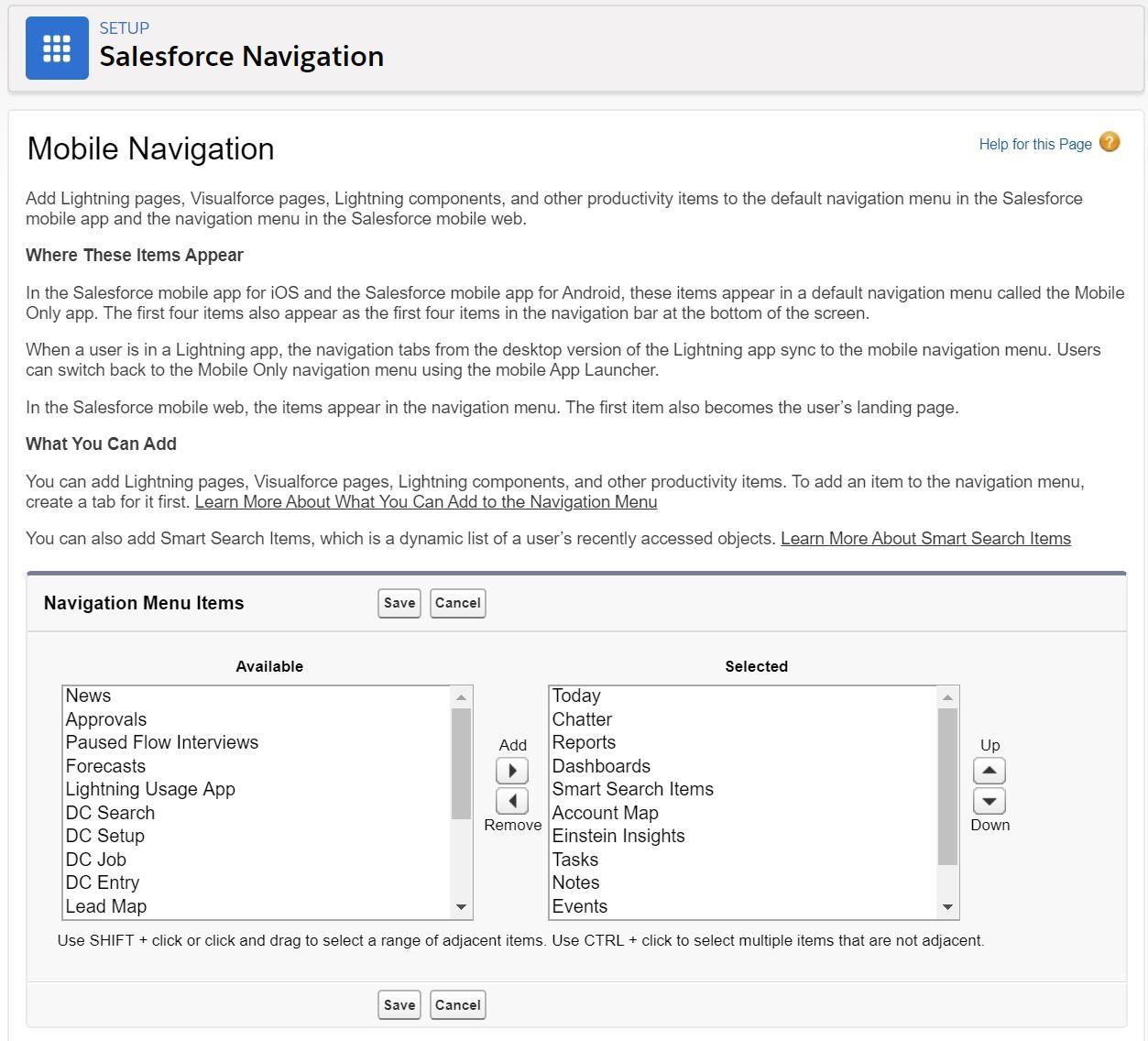 salesforce-navigation-settings