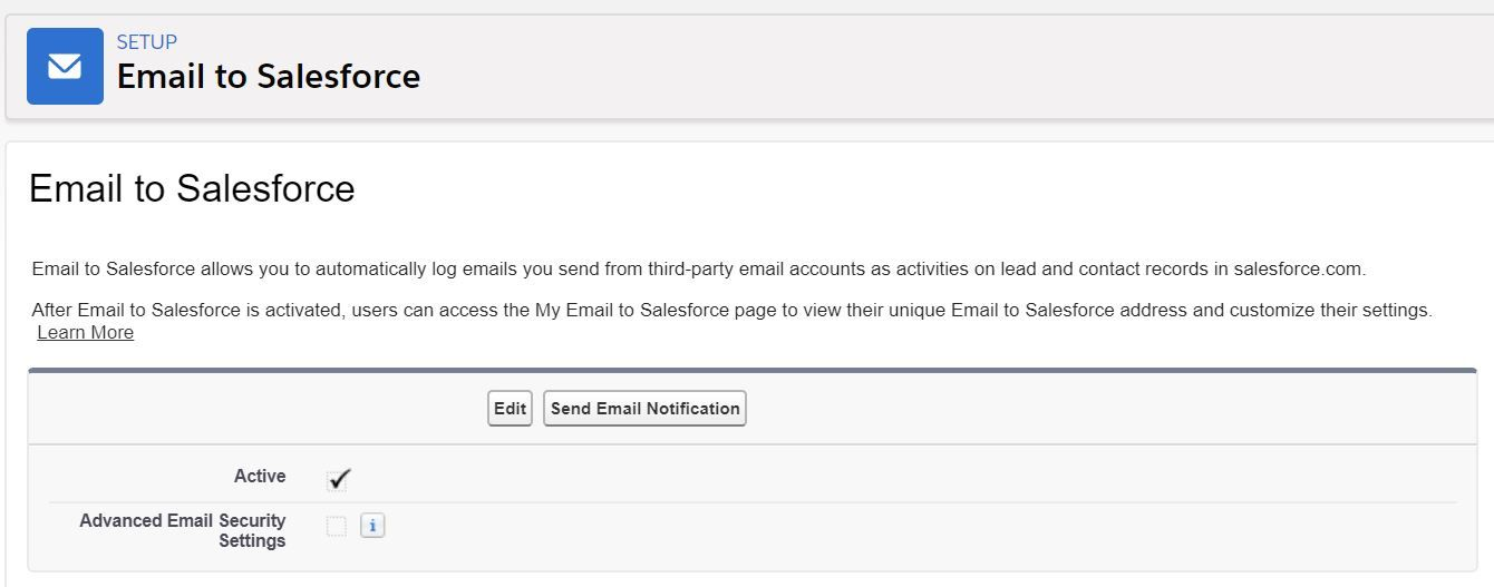 email-to-salesforce