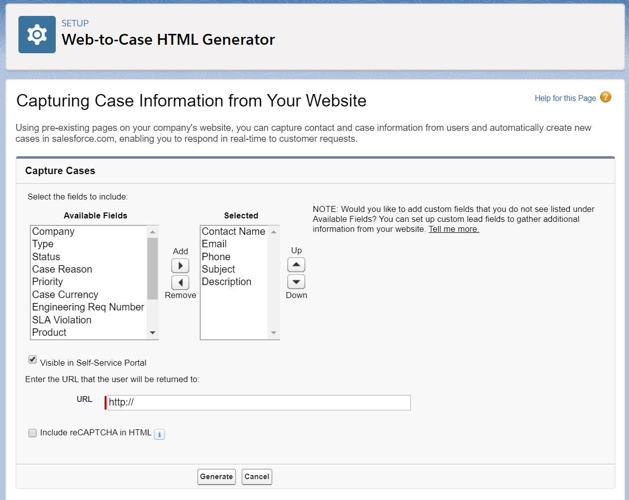 web-to-case-html-generator