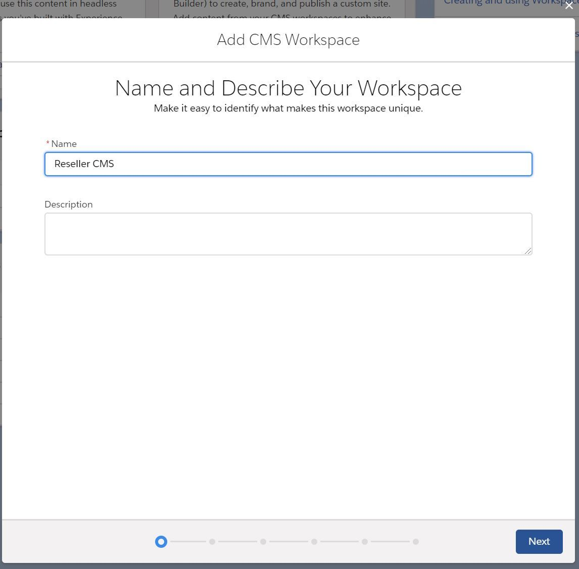 create-cms-workspace-step-1